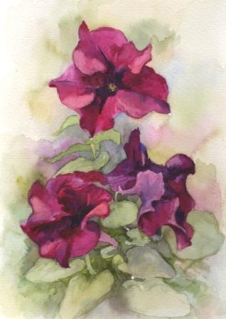 Акварель цветы натюрморт